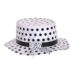 Black dotted paper shapoo hat
