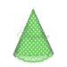 کلاه بوقی تم تولد سبز خال سفید